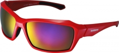 Shimano S22X Gloss Red/Black Sonnen Rad Brille mit Case