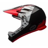 Bell Sanction Junior Fullface Helm White/Black/Red