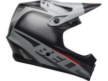 Bell Helm Full 9 Fusion Mips Matte/Gloss Grey/Crimson