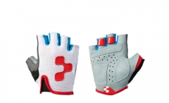 CUBE Handschuhe Junior Race Teamline kurzfinger white n blue n red
