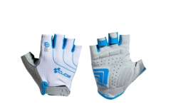CUBE Handschuhe WLS Natural Fit LTD kurzfinger white n grey n blue